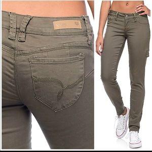 YMI WannaBettaButt Olive  Skinny Jeans